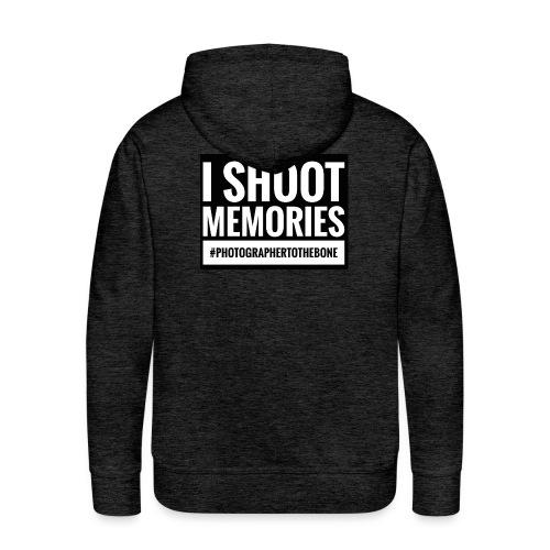I SHOOT MEMORIES, #photographertothebone - Herre Premium hættetrøje