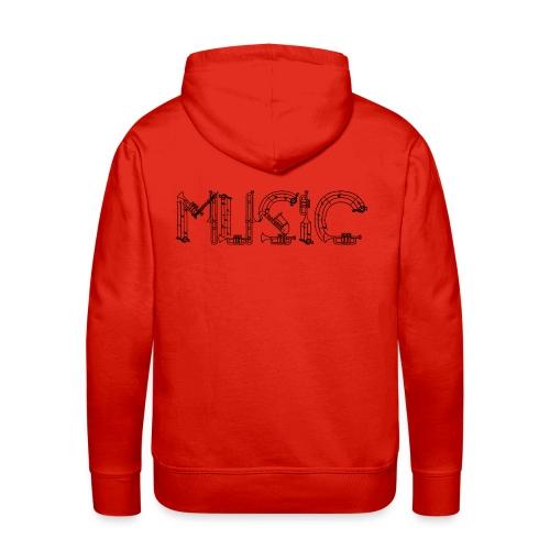 Musique - Sweat-shirt à capuche Premium pour hommes
