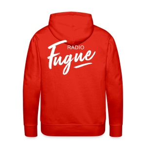 Radio Fugue Blanc - Sweat-shirt à capuche Premium pour hommes