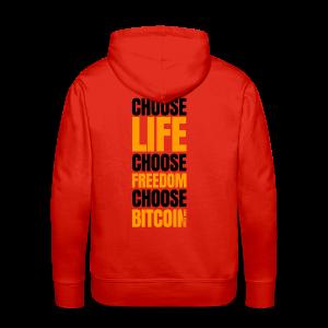 Logo choose bitcoin black 1 1 - Sweat-shirt à capuche Premium pour hommes