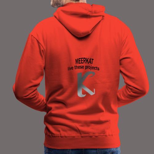 Première collection MEERKAT - logo et slogan - Sweat-shirt à capuche Premium pour hommes