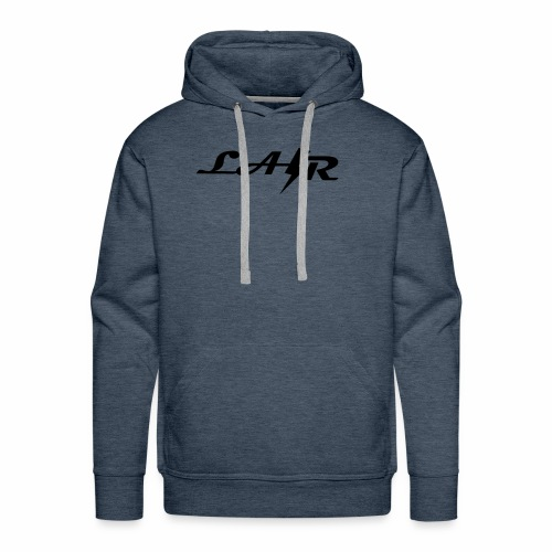 LaZr Lightning Bolt Text Logo - Men's Premium Hoodie