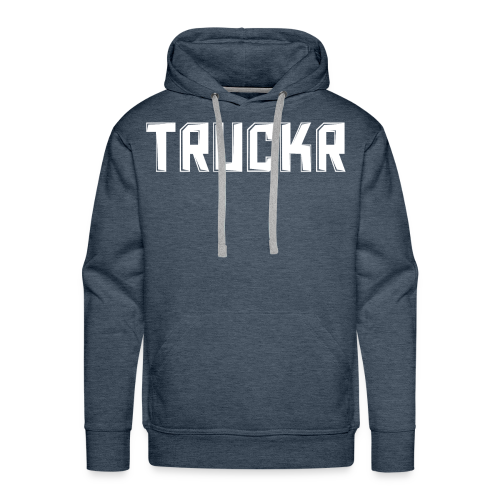 White print with no background TRUCKR - Men's Premium Hoodie