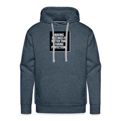 making mistakes - Mannen Premium hoodie