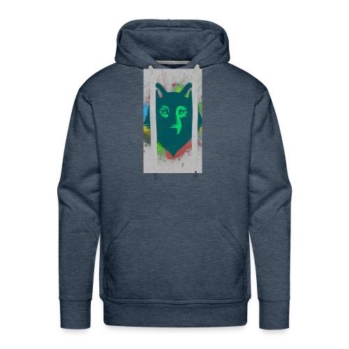 WOLF FACE - Männer Premium Hoodie