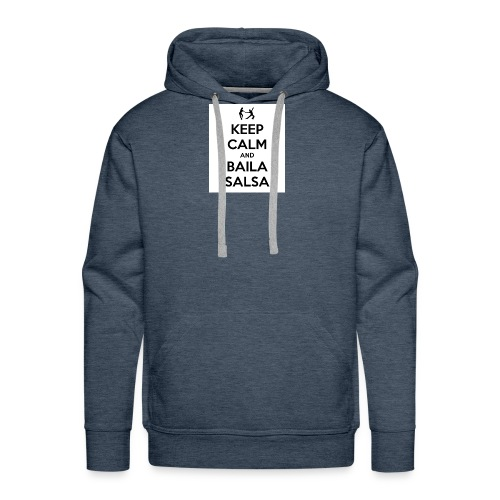 keep-calm-and-baila-salsa-41 - Felpa con cappuccio premium da uomo