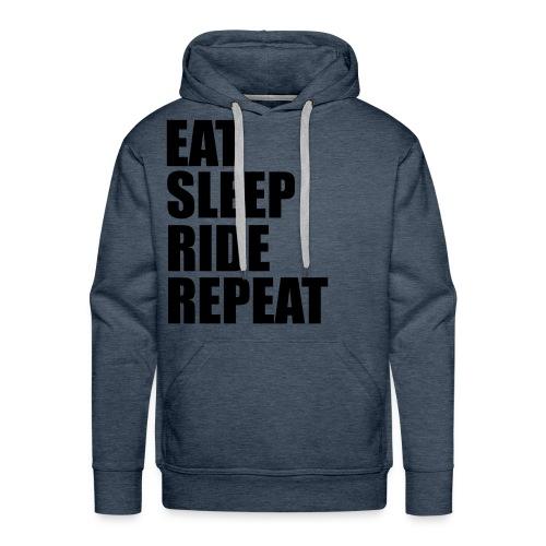 Eat sleep ride repeat - Felpa con cappuccio premium da uomo