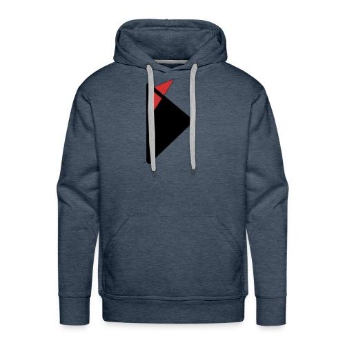 Triangulo con cola. - Sudadera con capucha premium para hombre