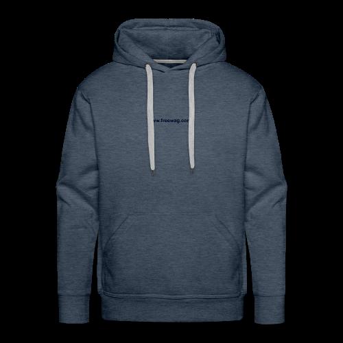 FreeWag Bleu - Sweat-shirt à capuche Premium pour hommes