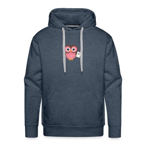 Back to School Owl - Men's Premium Hoodie