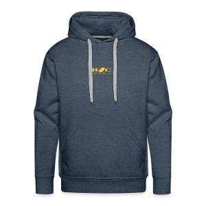 ROC Jaune sur bleu - Sweat-shirt à capuche Premium pour hommes