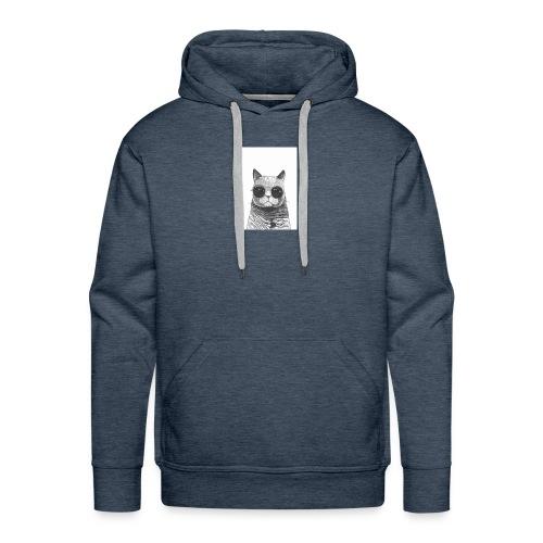 gato coool - Sudadera con capucha premium para hombre