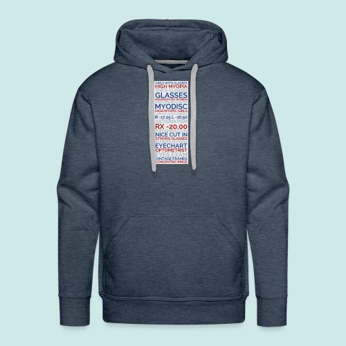 Myopia Poster 3 - Sweat-shirt à capuche Premium pour hommes