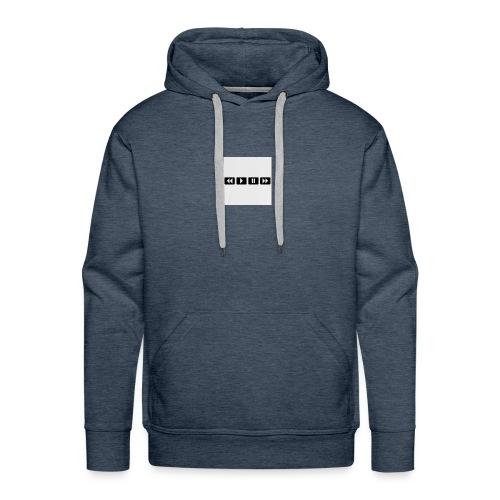 black-rewind-play-pause-forward-t-shirts_design - Mannen Premium hoodie