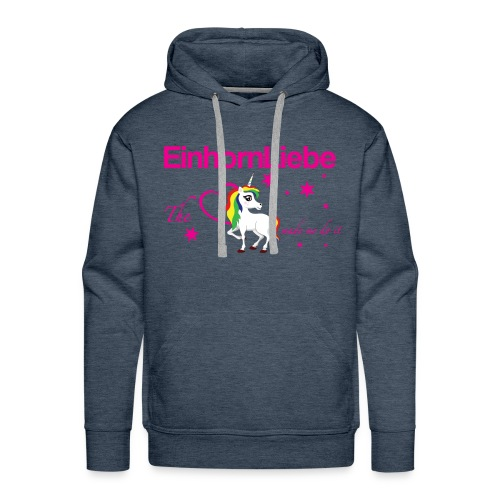 The-Unicorn_made_me_do_it_EInhornLiebe - Männer Premium Hoodie