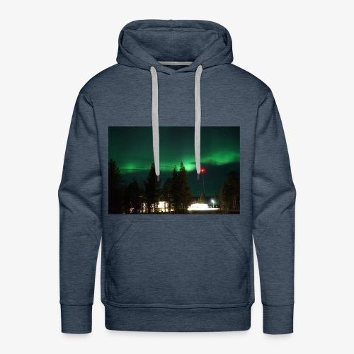 Aurora Boreale - Felpa con cappuccio premium da uomo
