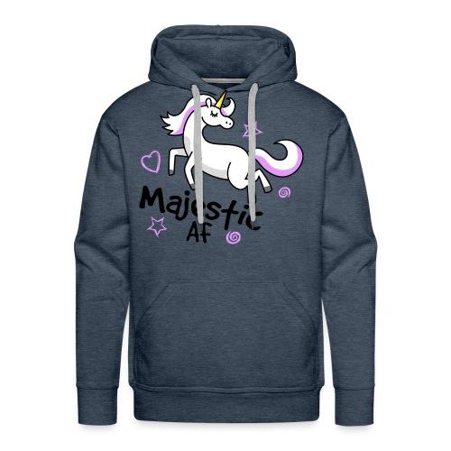 Majestic AF Unicorn - Men's Premium Hoodie
