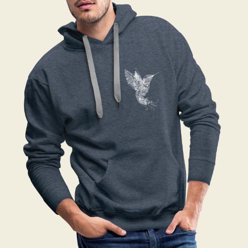 Großer Kolibri in weiß - Männer Premium Hoodie