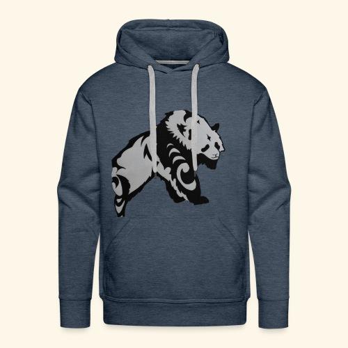 Dessin Panda tribal - Sweat-shirt à capuche Premium pour hommes