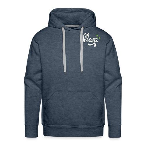 #kqz Seedling-Logo Weiß-Grün - Männer Premium Hoodie