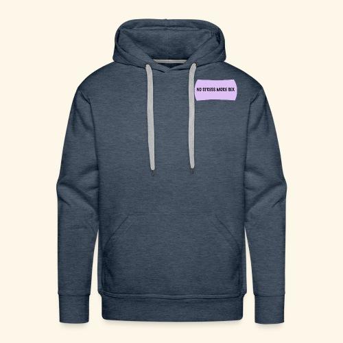 less stress - Sweat-shirt à capuche Premium pour hommes