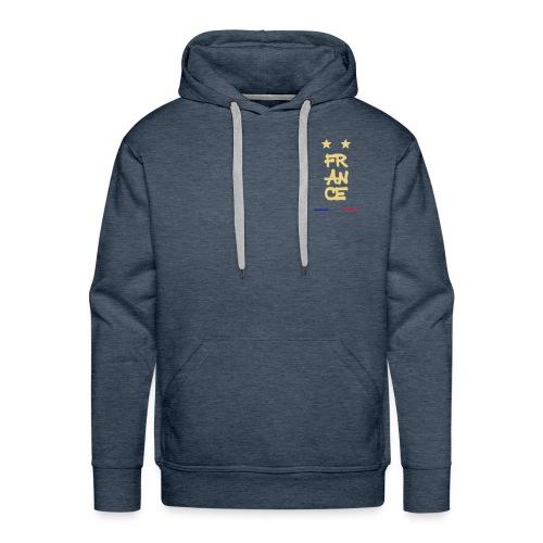 Champion du monde 1998 - 2018 macaron doré france - Sweat-shirt à capuche Premium pour hommes