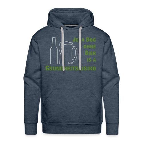 Jeda Dog ohne Bier is a Gsundheitsrisiko - Männer Premium Hoodie
