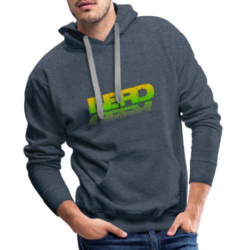 nerd geek - Sweat-shirt à capuche Premium pour hommes