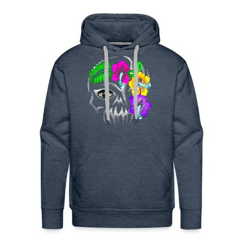 Alien Flower Skull - Männer Premium Hoodie