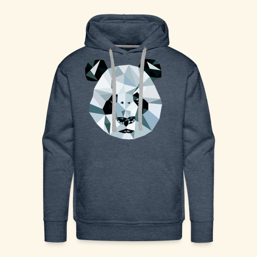 Panda Kopf 3D Polygon Comic - Männer Premium Hoodie