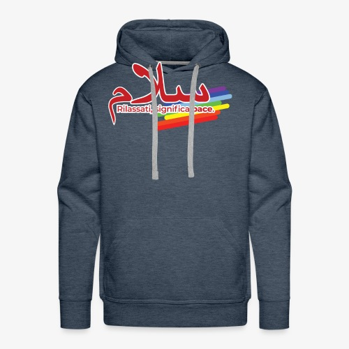 rilassati significa pace colori arcobaleno - Felpa con cappuccio premium da uomo