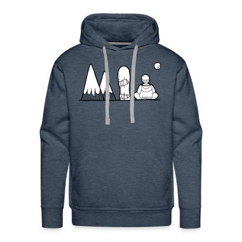 snowboard et montagnes - Sweat-shirt à capuche Premium pour hommes