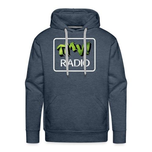 TMV RADIO logo bianco - Felpa con cappuccio premium da uomo