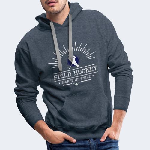 Hockey makes me smile - Männer Premium Hoodie