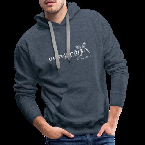 geweihbär - weiss - Männer Premium Hoodie