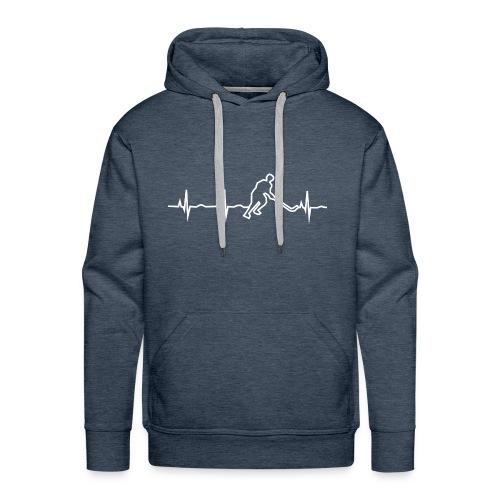 Heartbeat hockey - Mein Herz schlägt für Eishockey - Männer Premium Hoodie