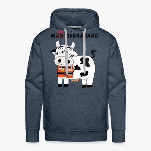 mucca nera - Felpa con cappuccio premium da uomo