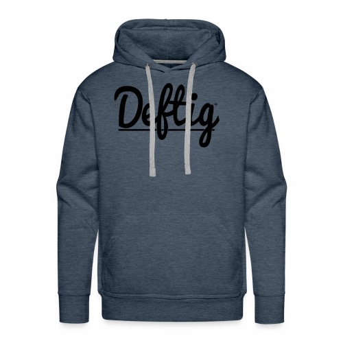 Deftig_underline_black - Mannen Premium hoodie