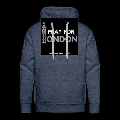 PRAY FOR LONDON - Sweat-shirt à capuche Premium pour hommes