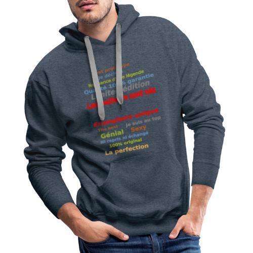 t shirt les meilleurs sont nés sweat shirt et mugs - Sweat-shirt à capuche Premium pour hommes