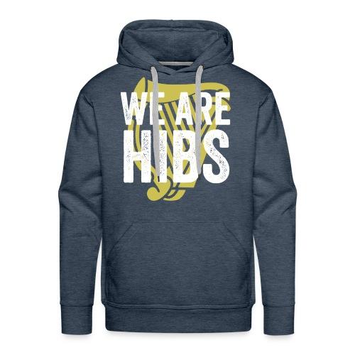 WEAREHIBS WhiteWithGoldHarp - Men's Premium Hoodie
