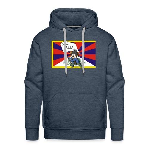 Free Tibet - Sweat-shirt à capuche Premium pour hommes