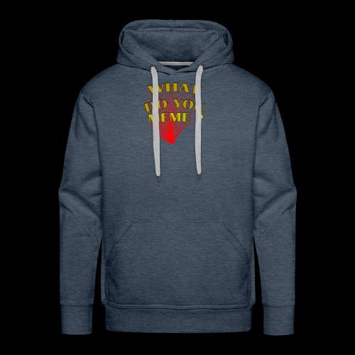 qu'est-ce que vous mème - Sweat-shirt à capuche Premium pour hommes