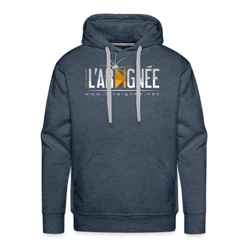 L'Araignée, le logo clair pour fond foncés - Sweat-shirt à capuche Premium pour hommes