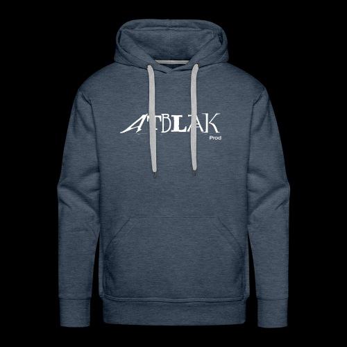 ATBLAK blanc grand - Sweat-shirt à capuche Premium pour hommes