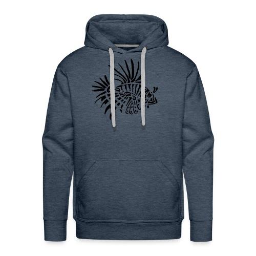 poisson lion - tattoo - Sweat-shirt à capuche Premium pour hommes
