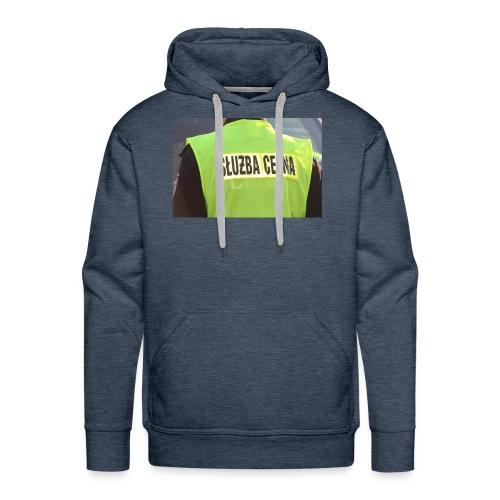policja - Bluza męska Premium z kapturem