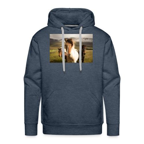 Islandpferde - Männer Premium Hoodie