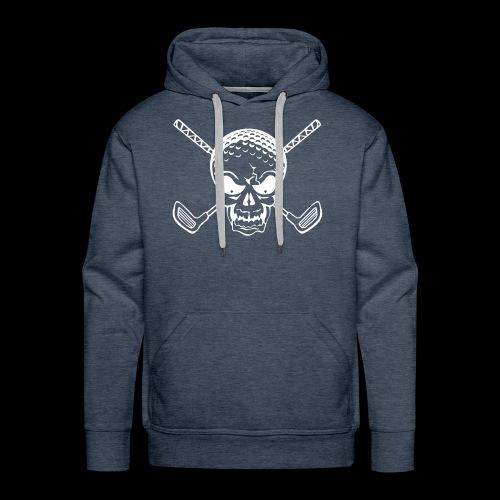 Schwarzlicht Semester Totenkopf Weiss - Männer Premium Hoodie