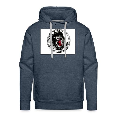 gezeichneter Print fuer ein T Shirt - Männer Premium Hoodie
